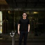 Gran Sasso (グランサッソ) Silk Knit T-shirt (シルクニット Tシャツ) SETA (シルク 100%) ショートスリーブ シルク ニット Tシャツ BLACK (ブラック・099) made in italy (イタリア製) 2020 春夏新作のイメージ