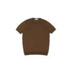Gran Sasso (グランサッソ) Silk Knit T-shirt (シルクニット Tシャツ) SETA (シルク 100%) ショートスリーブ シルク ニット Tシャツ GOLD (ゴールド・170) made in italy (イタリア製) 2020 春夏新作  【入荷しました】【フリー分発売開始】のイメージ