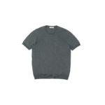 Gran Sasso (グランサッソ) Silk Knit T-shirt (シルクニット Tシャツ) SETA (シルク 100%) ショートスリーブ シルク ニット Tシャツ GREY (グレー・097) made in italy (イタリア製) 2020 春夏新作  【入荷しました】【フリー分発売開始】のイメージ