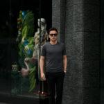 Gran Sasso (グランサッソ) Silk Knit T-shirt (シルクニット Tシャツ) SETA (シルク 100%) ショートスリーブ シルク ニット Tシャツ GREY (グレー・097) made in italy (イタリア製) 2020 春夏新作のイメージ