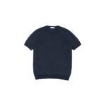 Gran Sasso (グランサッソ) Silk Knit T-shirt (シルクニット Tシャツ) SETA (シルク 100%) ショートスリーブ シルク ニット Tシャツ NAVY (ネイビー・597) made in italy (イタリア製) 2020 春夏新作  【入荷しました】【フリー分発売開始】のイメージ