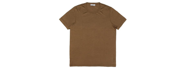 Gran Sasso (グランサッソ) Silk T-shirt (シルク Tシャツ) SETA (シルク 100%) ショートスリーブ シルク Tシャツ GOLD (ゴールド・160) made in italy (イタリア製) 2020 春夏新作 【入荷しました】【フリー分発売開始】のイメージ