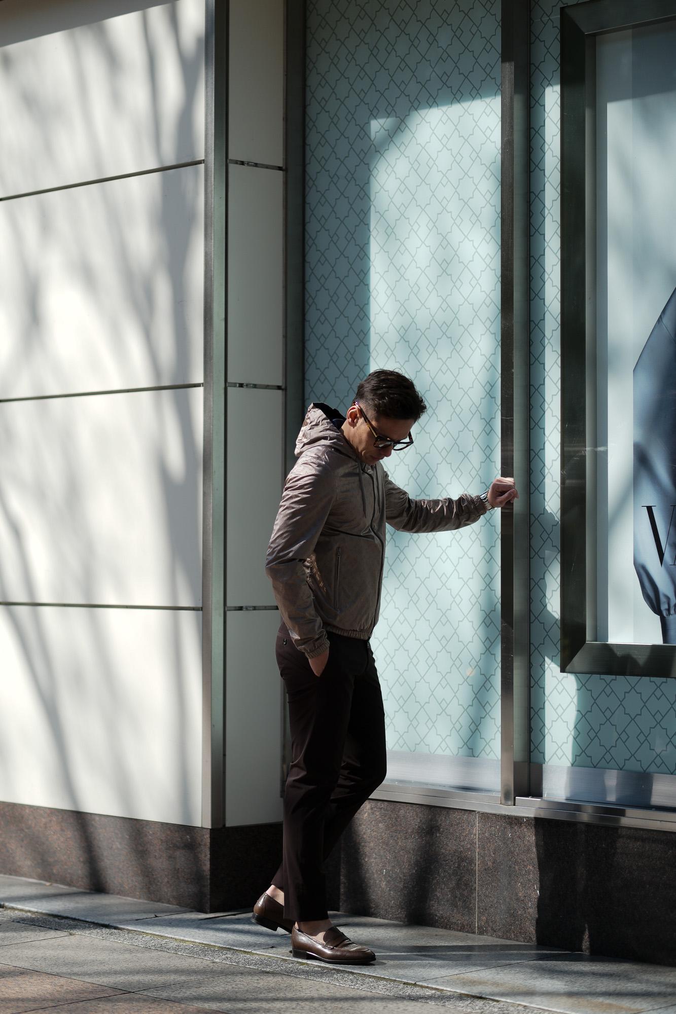 HERNO(ヘルノ) Monogram Jacket (モノグラム ジャケット) モノグラム × メッシュ リバーシブル ナイロン フードブルゾン BEIGE (ベージュ・2600) Made in italy (イタリア製) 2020 春夏新作 愛知 名古屋 altoediritto アルトエデリット
