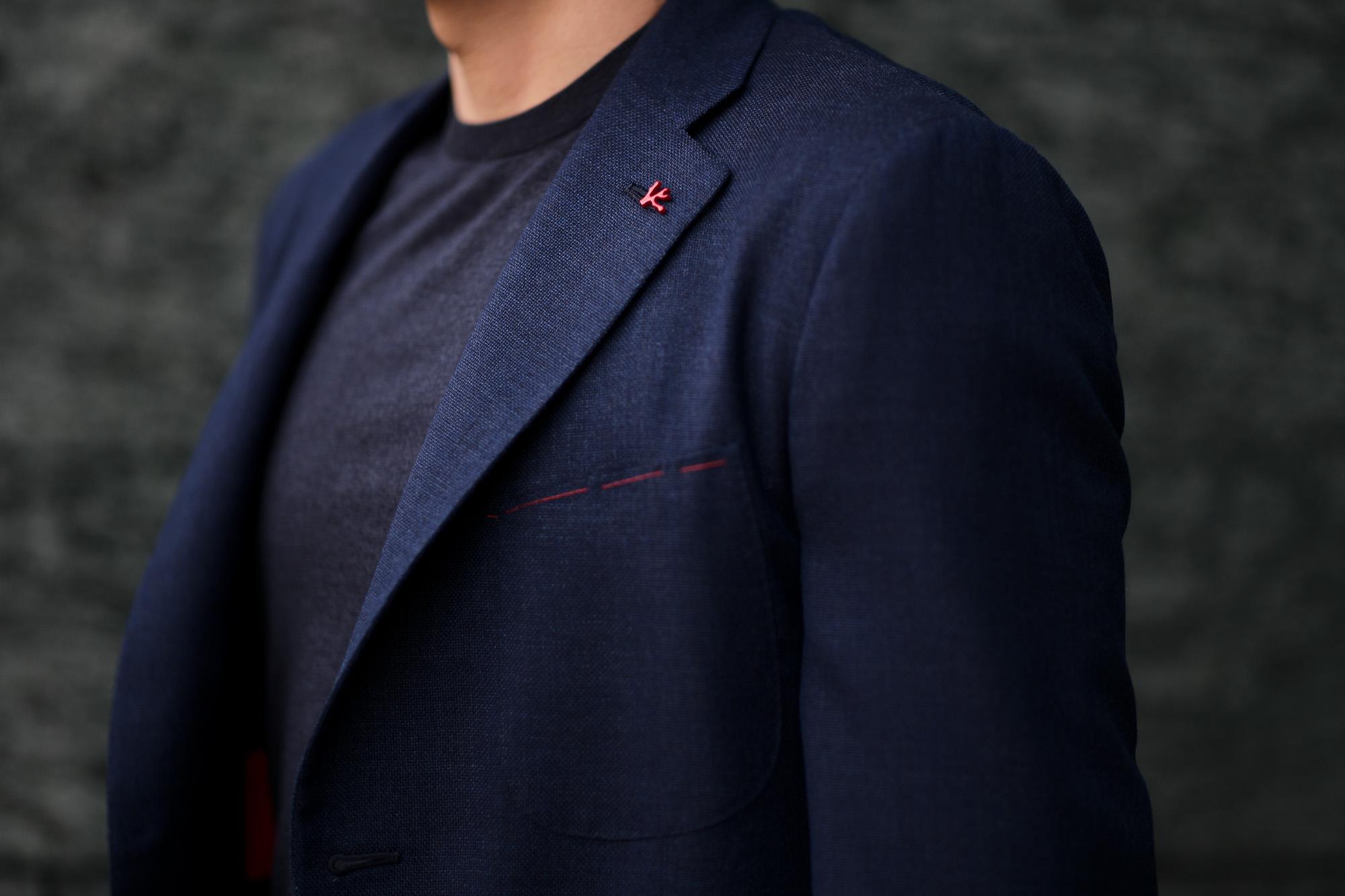 ISAIA (イザイア) POMPEI (ポンペイ) ウールシルク ホップサック サマー ジャケット NAVY (ネイビー・810) Made in italy (イタリア製) 2020 春夏新作 愛知 名古屋 altoediritto アルトエデリット