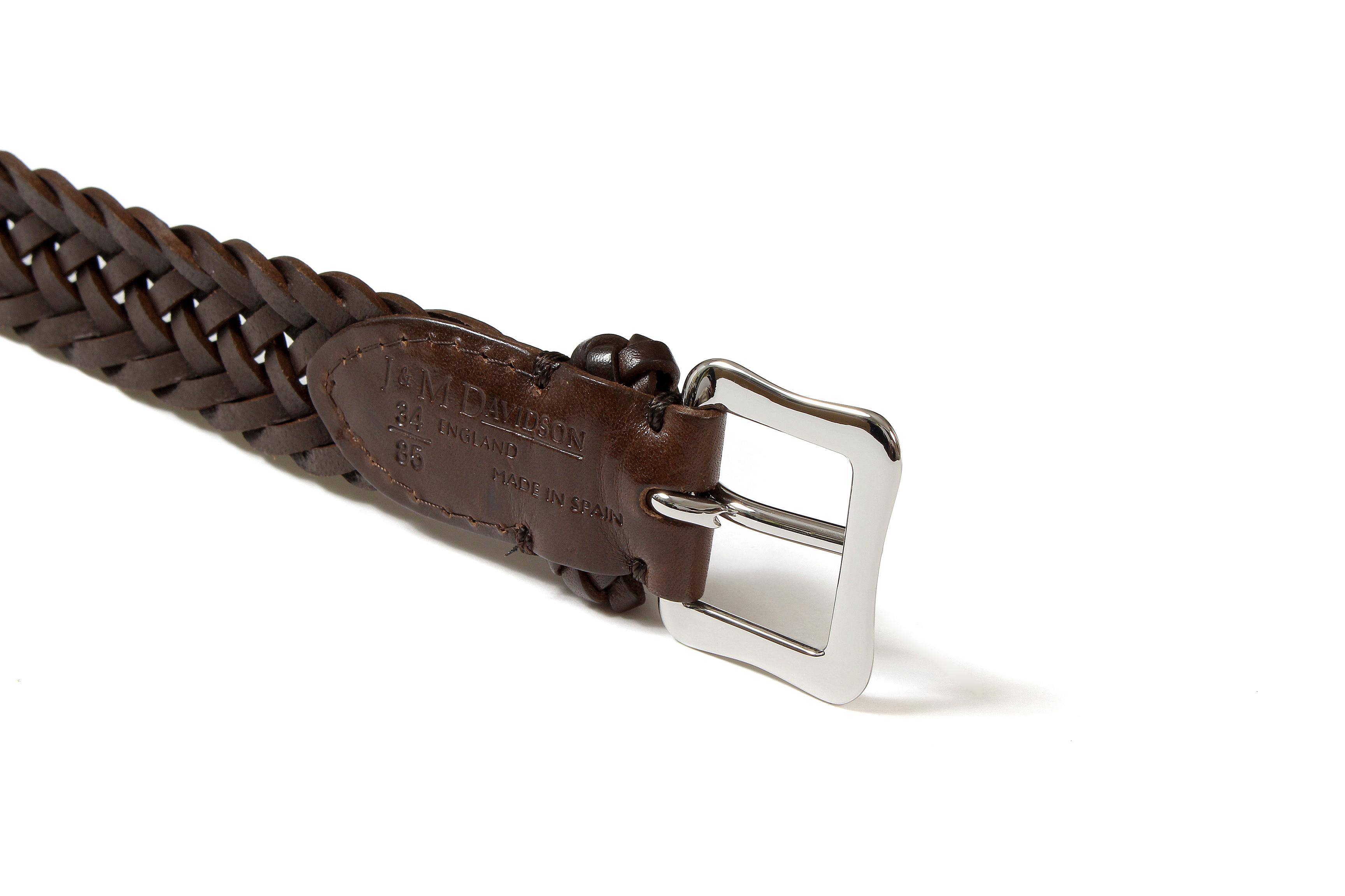 J&M DAVIDSON (ジェイアンドエムデヴィッドソン) ENVELOPE BUCKLE TIP END PLAITED BELT 25MM (エンベロープバックルチップエンドプレーテッドベルト 25mm)  47461SP COWHIDE LEATHER (カウハイドレザー) プンターレ メッシュベルト HAVANA (ハバナ・650) Made in italy (イタリア製) 2020 春夏新作 愛知 名古屋 Alto e Diritto アルト エ デリット jmdavidson ジェイエムデヴィッドソン ベルト メッシュ