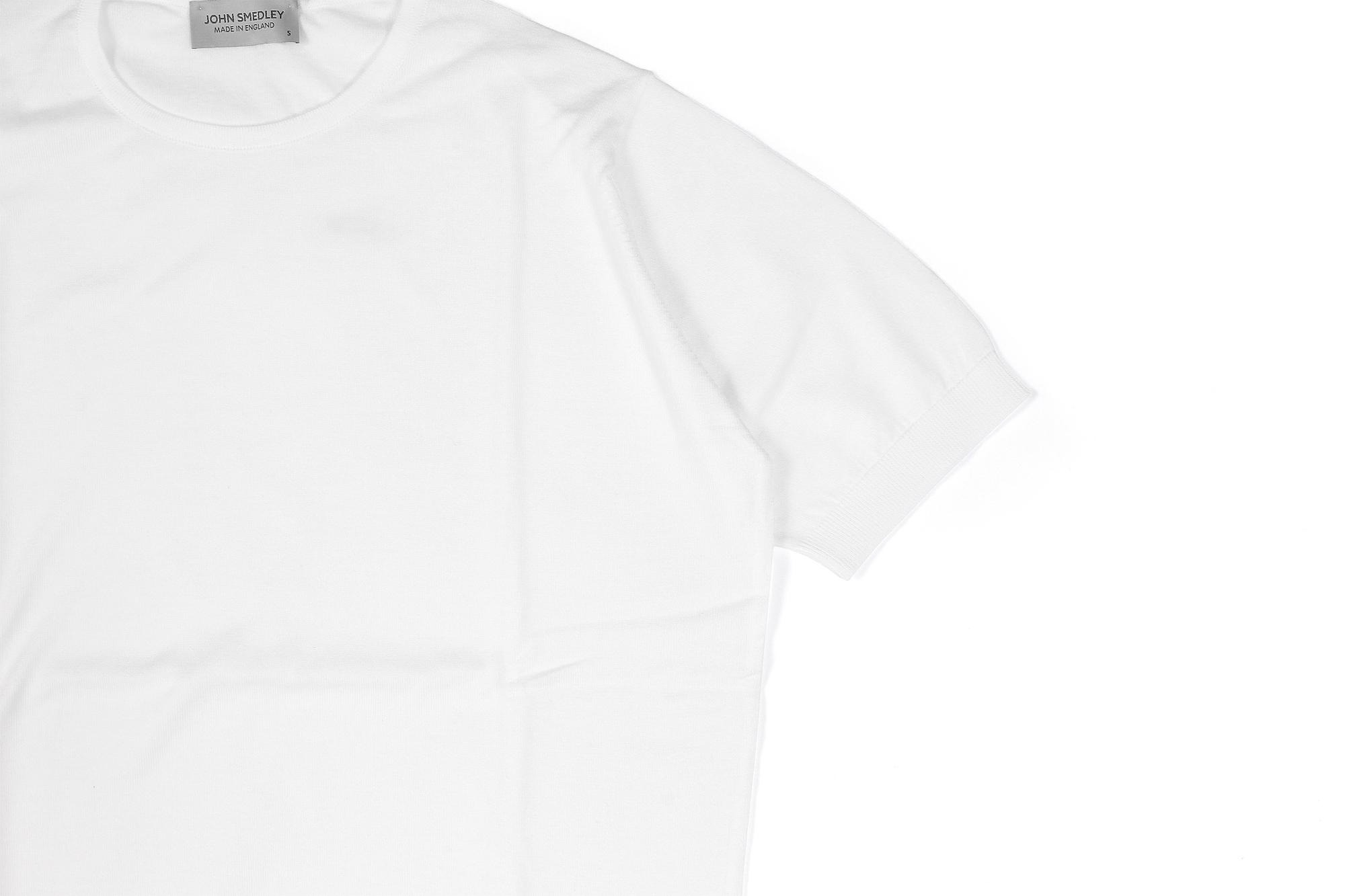 JOHN SMEDLEY(ジョンスメドレー) BELDEN (ベルデン) SEA ISLAND COTTON (シーアイランドコットン) ショートスリーブ コットンニット Tシャツ WHITE (ホワイト) Made in England (イギリス製) 2020 春夏新作 愛知 名古屋 altoediritto アルトエデリット