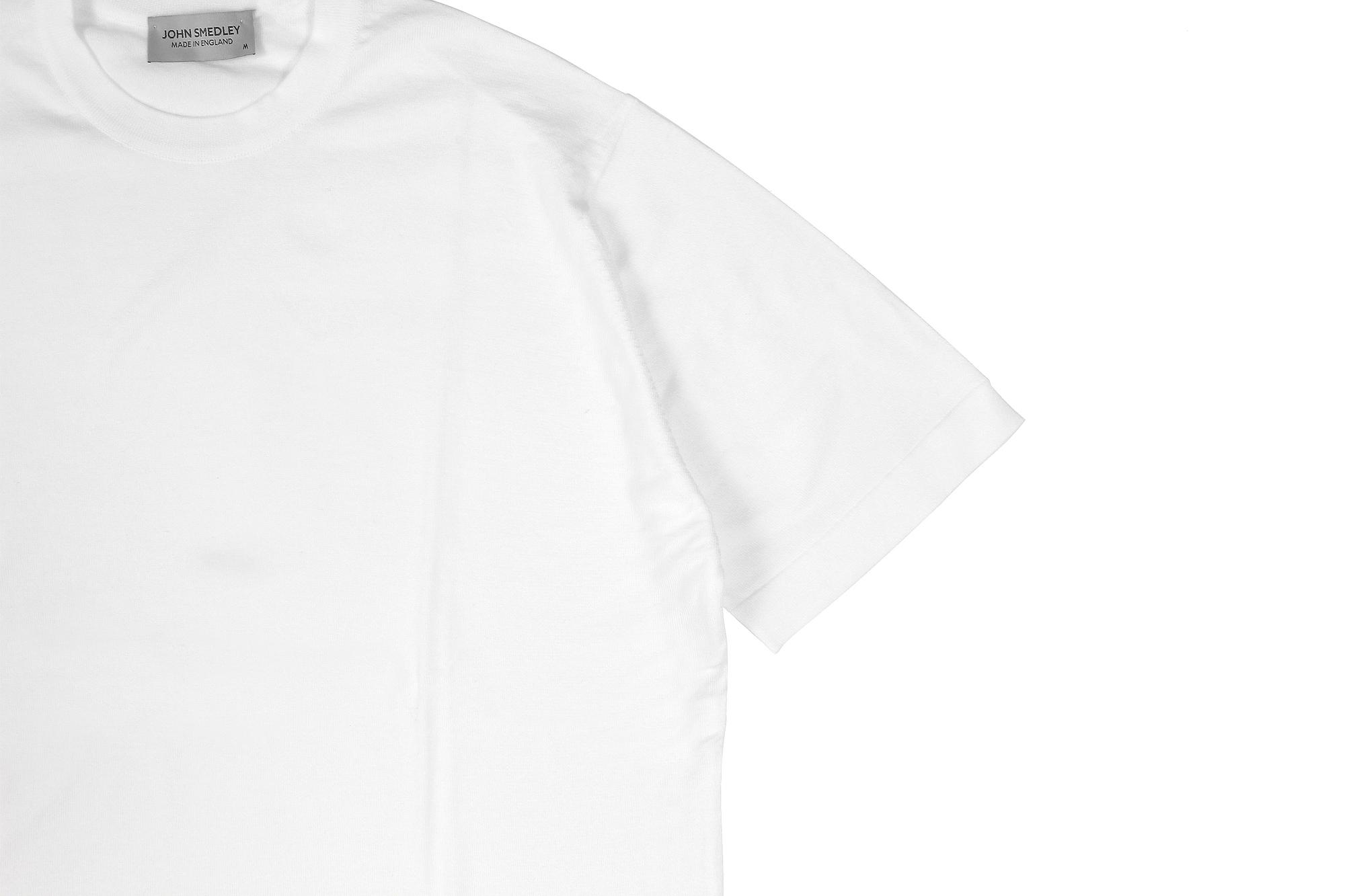 JOHN SMEDLEY(ジョンスメドレー) LORCA (ロルカ) SEA ISLAND COTTON (シーアイランドコットン) コットンニット Tシャツ WHITE (ホワイト) Made in England (イギリス製) 2020 春夏新作 愛知 名古屋 altoediritto アルトエデリット