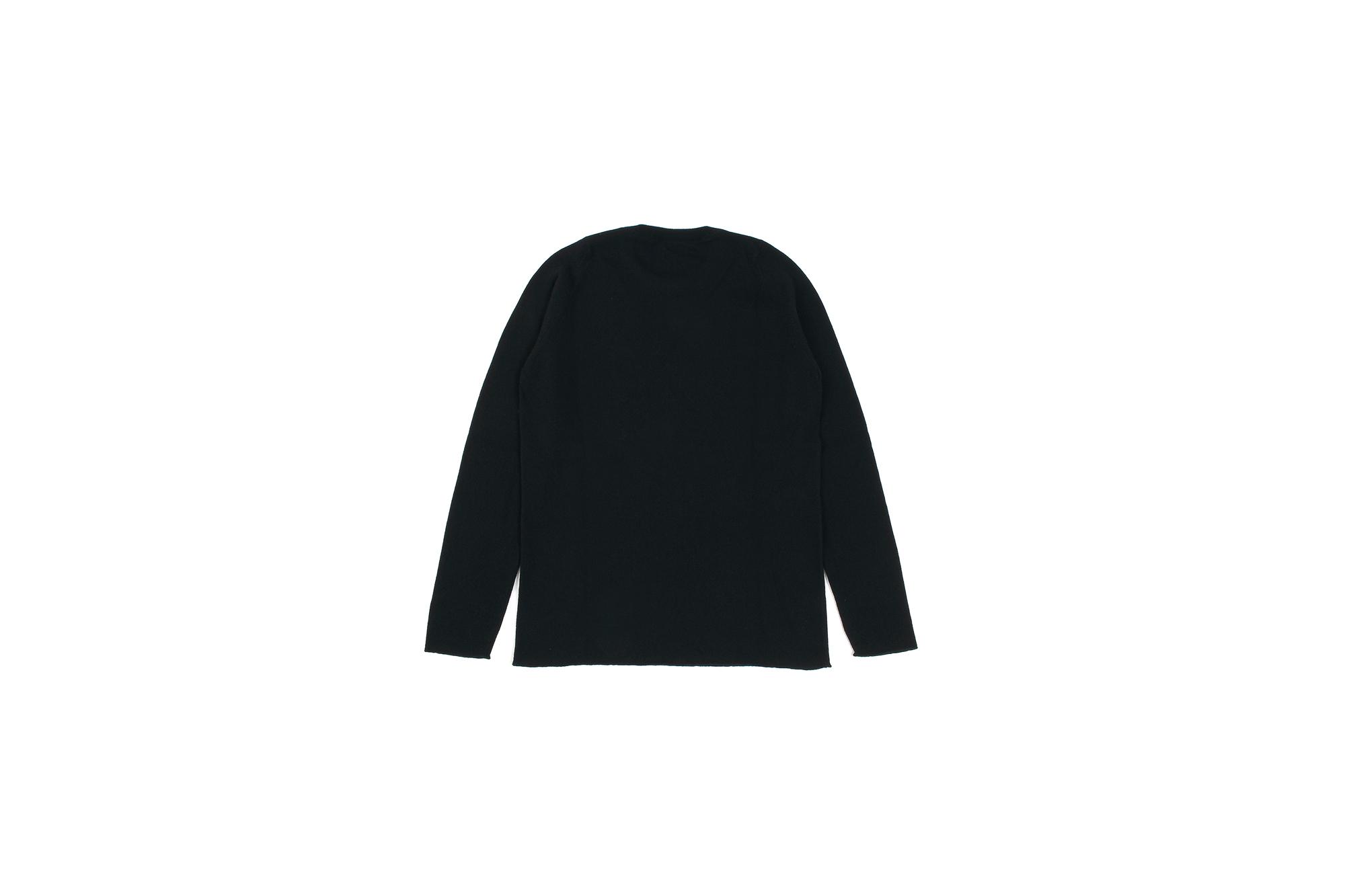 lucien pellat-finet(ルシアン ペラフィネ) KISS Skull Tongue Cashmere Sweater (キッス スカル タン カシミア セーター) インターシャ カシミア スカル セーター BLACK × NIVEOUS (ブラック × ホワイト) made in scotland (スコットランド製) 2020 春夏新作 愛知 名古屋 altoediritto アルトエデリット