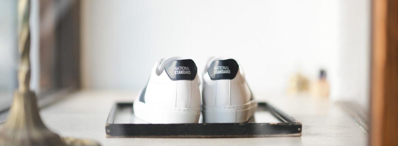 NATIONAL STANDARD (ナショナルスタンダード) EDITION 4 NAVY BANDE レザースニーカー WHITE × NAVY (ホワイト × ネイビー・005) 2020 春夏新作のイメージ