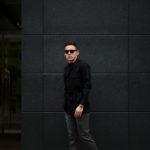 ORIAN (オリアン) LARMY リネンコットン サファリ ジャケット BLACK (ブラック・90) Made in italy (イタリア製) 2020 春夏 【ご予約開始】のイメージ