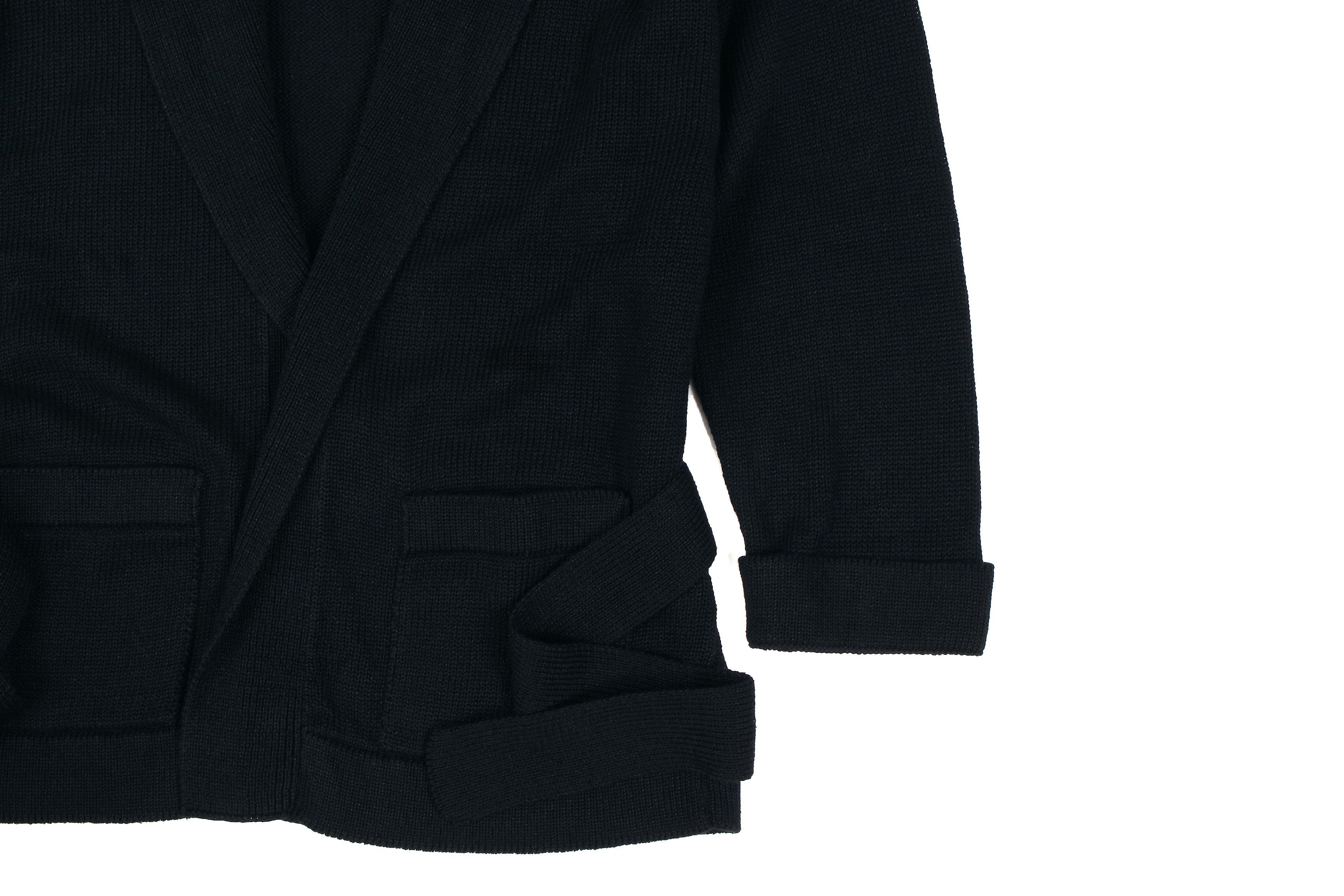 Settefili Cashmere (セッテフィーリ カシミア) Belted Shawl Collar Cardigan (ベルテッド ショールカラー カーディガン) リネンコットン ニット カーディガン BLACK (ブラック・MA12) made in italy (イタリア製)  2020 春夏新作 愛知 名古屋 altoediritto アルトエデリット