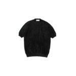 Settefili Cashmere (セッテフィーリ カシミア) Pile Knit T-shirt パイルニットTシャツ BLACK (ブラック・GD03) made in italy (イタリア製) 2020 春夏新作 【入荷しました】【フリー分発売開始】のイメージ