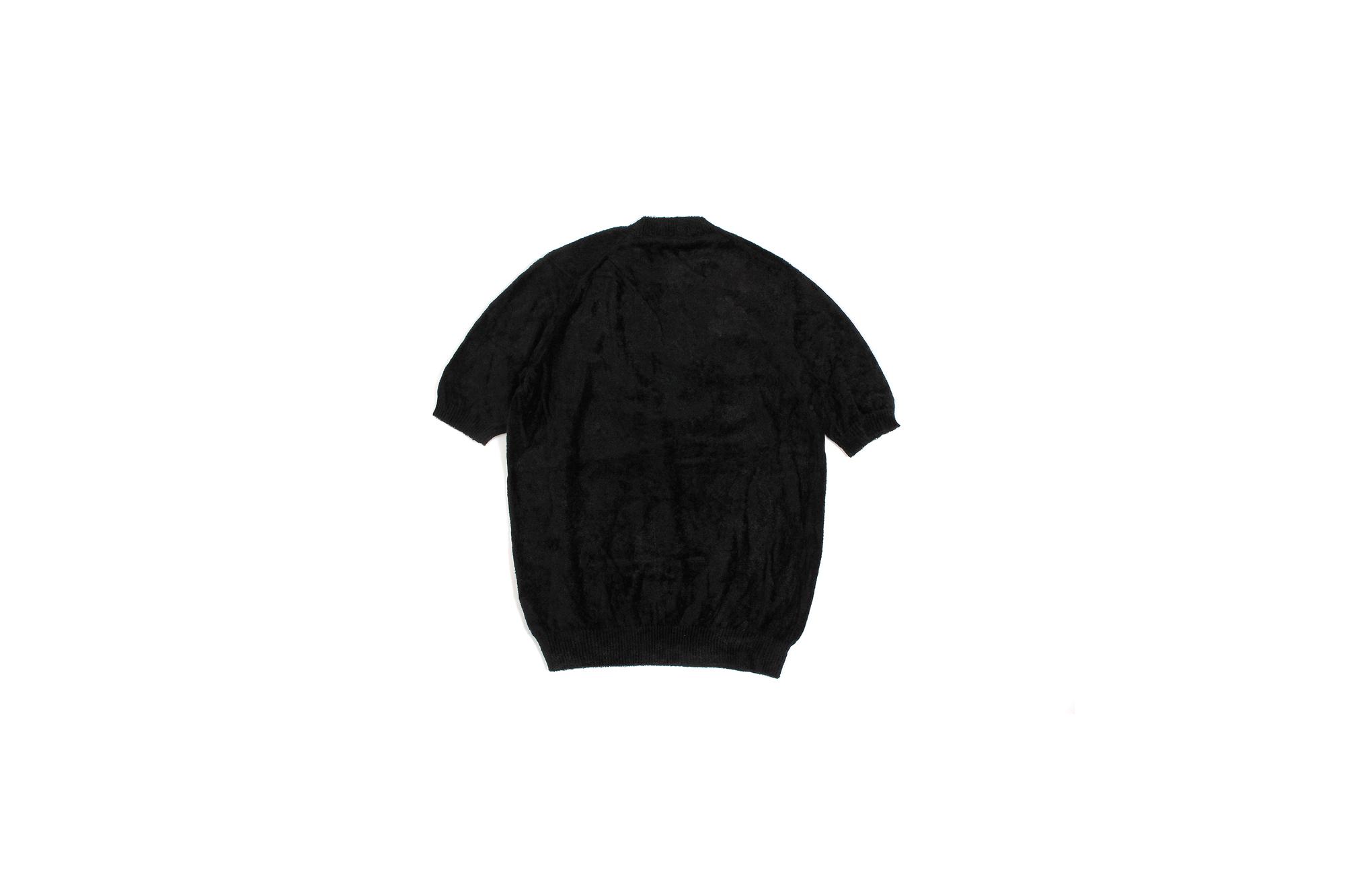 Settefili Cashmere (セッテフィーリ カシミア) Pile Knit T-shirt パイルニットTシャツ BLACK (ブラック・GD03) made in italy (イタリア製) 2020 春夏新作 愛知 名古屋 altoediritto アルトエデリット