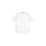 Settefili Cashmere (セッテフィーリ カシミア) Pile Knit T-shirt パイルニットTシャツ WHITE (ホワイト・GD01) made in italy (イタリア製) 2020 春夏新作 【入荷しました】【フリー分発売開始】のイメージ