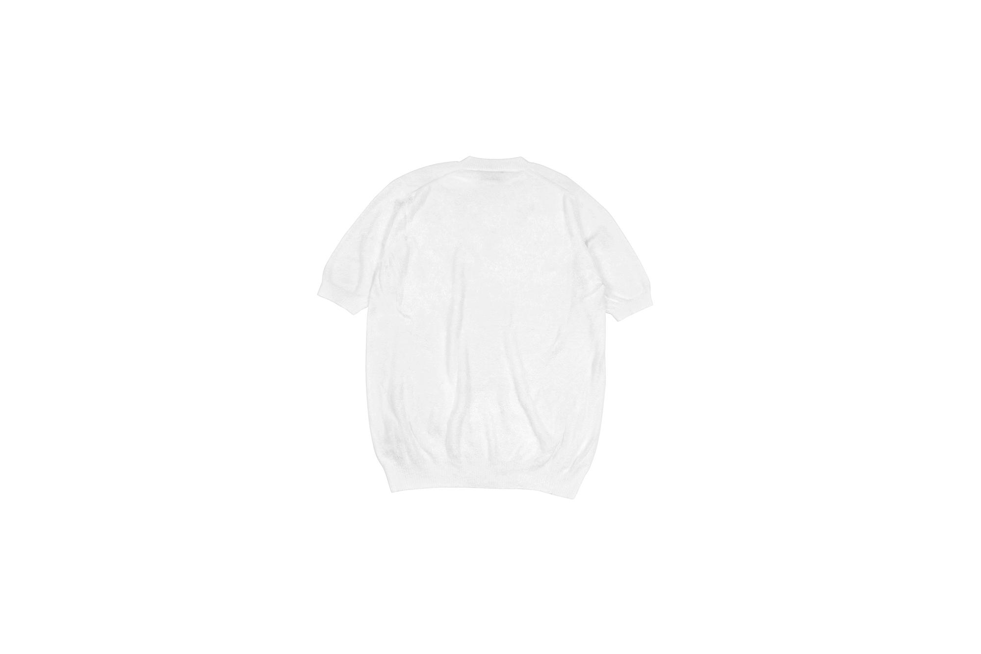 Settefili Cashmere (セッテフィーリ カシミア) Pile Knit T-shirt パイルニットTシャツ WHITE (ホワイト・GD01) made in italy (イタリア製) 2020 春夏新作 愛知 名古屋 altoediritto アルトエデリット