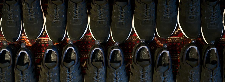 WH (ダブルエイチ) WH-0111S Faster Last(ファスターラスト) Suede Leather スエードレザー スニーカー BLACK×BLACK (ブラック×ブラック) MADE IN JAPAN (日本製) 2020春夏新作【Alto e Diritto 別注】【限定スエードモデル】 【入荷しました】【フリー分発売開始】のイメージ