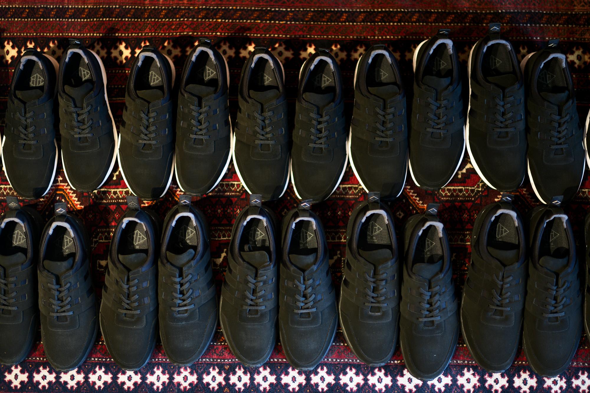 WH (ダブルエイチ) WH-0111S Faster Last(ファスターラスト) Suede Leather スエードレザー スニーカー BLACK×BLACK (ブラック×ブラック) MADE IN JAPAN (日本製) 2020春夏新作【Alto e Diritto 別注】【限定スエードモデル】 愛知 名古屋 alto e diritto altoediritto アルトエデリット