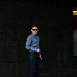 AVINO Laboratorio Napoletano(アヴィーノ・ラボラトリオ・ナポレターノ) Linen Dress Shirts (リネン ドレス シャツ) リネン100% ワイドカラー シャツ BLUE (ブルー) made in italy (イタリア製) 2020 春夏新作  【入荷しました】【フリー分発売開始】のイメージ