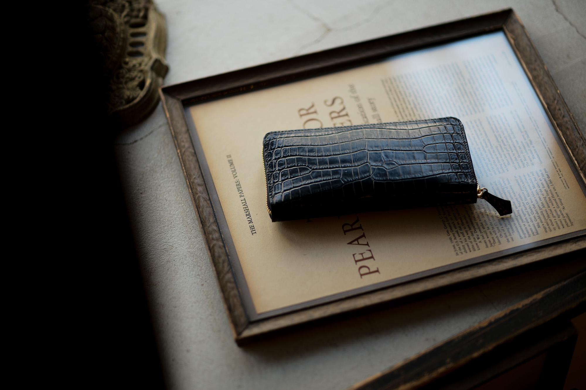 Cisei × 山本製鞄 (シセイ × 山本製鞄) Crocodile Long Wallet (クロコダイル ロング ウォレット) Nile Crocodile Leather (ワニ革) ナイル クロコダイル ウォレット 長財布 BLACK(ブラック)  Made in Japan (日本製) 2020 cisei yamamotoseiho トートバック クロコ 愛知 名古屋 Alto e Diritto アルト エ デリット
