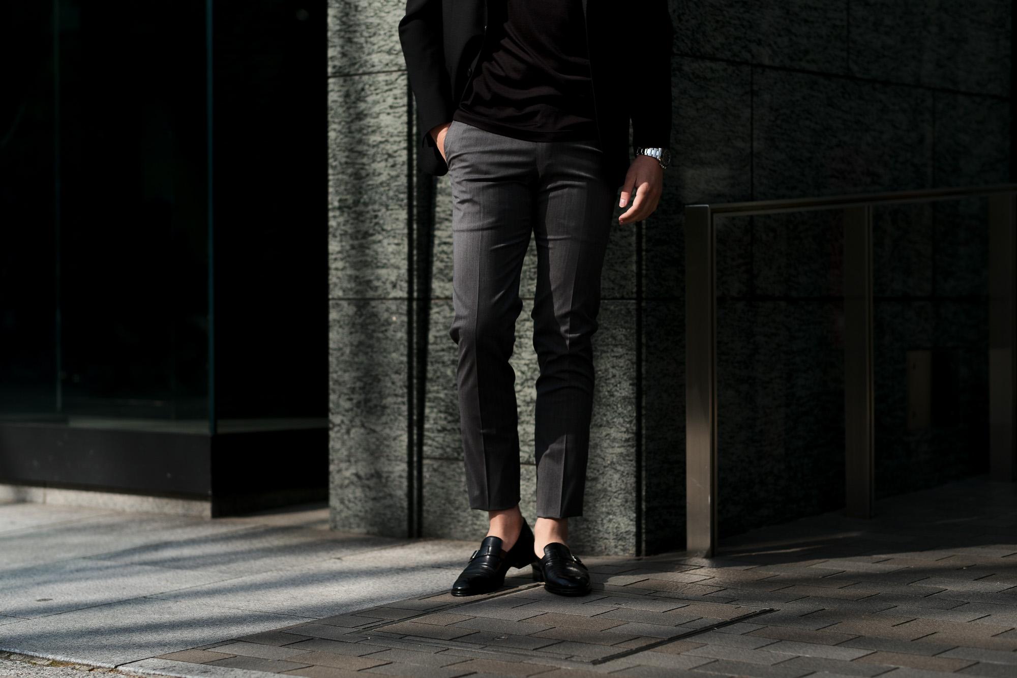 cuervo bopoha (クエルボ ヴァローナ) Sartoria Collection (サルトリア コレクション) Brad (ブラッド) Super 120's WASHABLE TROPICAL WOOL ウォッシャブル ストレッチ トロピカルウール サマーウール スラックス GRAY (グレー) MADE IN JAPAN (日本製) 2020 春夏新作 愛知 名古屋 altoediritto アルトエデリット