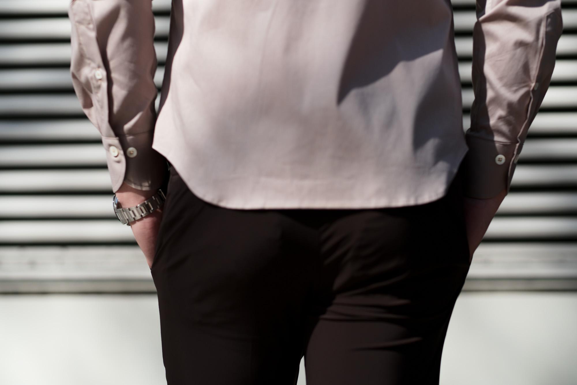 cuervo bopoha (クエルボ ヴァローナ) Sartoria Collection (サルトリア コレクション) Brad (ブラッド) WASHABLE 2WAY SUPER COMFORT NYLON ウォッシャブル ストレッチ ナイロン スラックス BROWN (ブラウン) MADE IN JAPAN (日本製) 2020 春夏新作 愛知 名古屋 altoediritto アルトエデリット