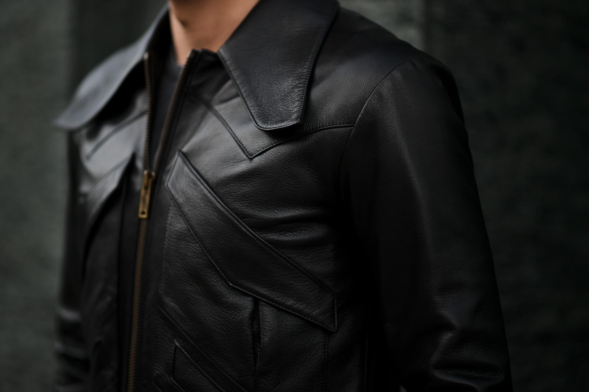 cuervo bopoha (クエルボ ヴァローナ) Satisfaction Leather Collection (サティスファクション レザー コレクション) East West (イーストウエスト) WINCHESTER (ウィンチェスター) BUFFALO LEATHER (バッファロー レザー) レザージャケット BLACK (ブラック) MADE IN JAPAN (日本製) 2020 春夏新作 愛知 名古屋 altoediritto アルトエデリット