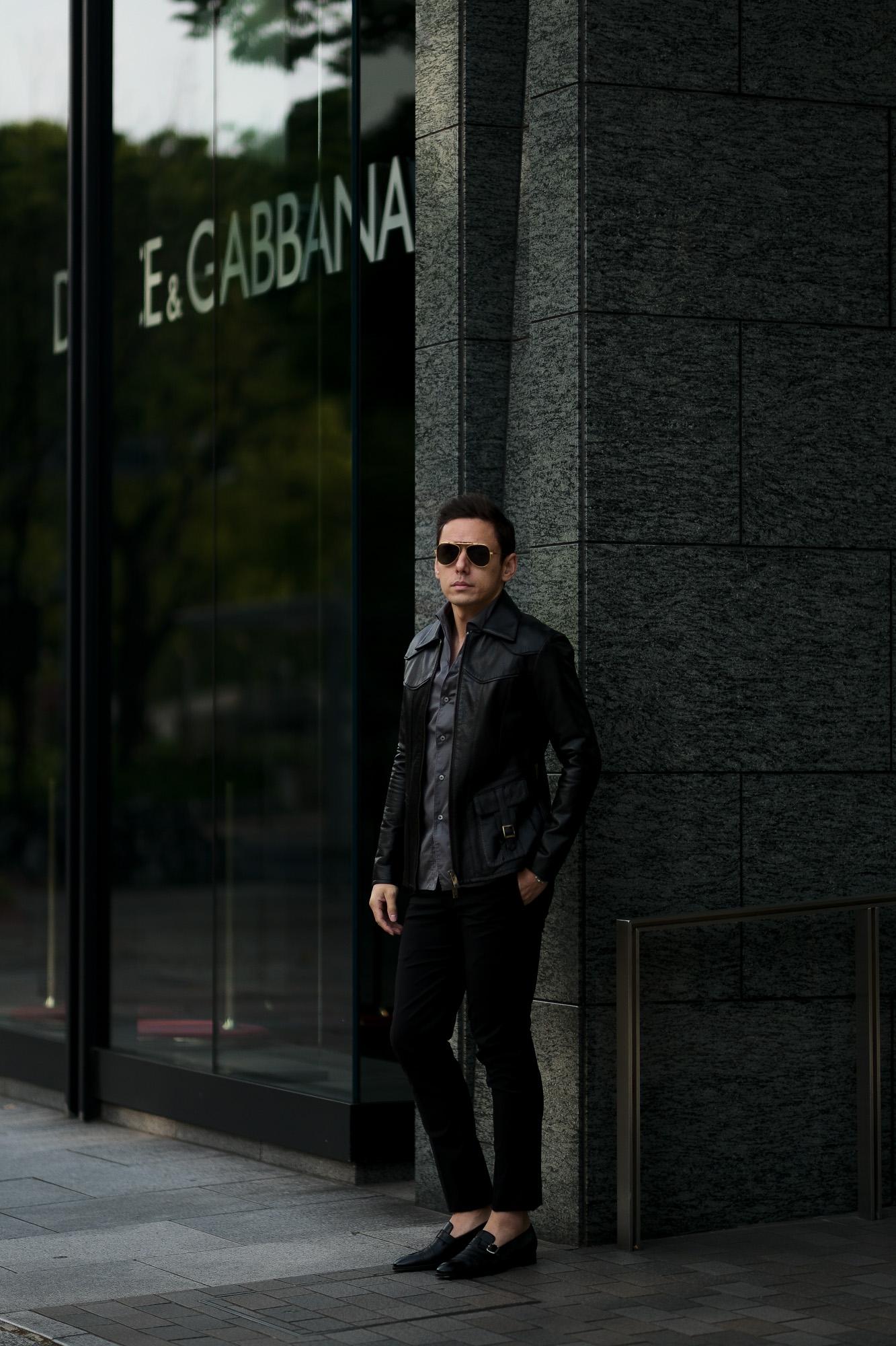 cuervo bopoha (クエルボ ヴァローナ) Satisfaction Leather Collection (サティスファクション レザー コレクション) East West(イーストウエスト)  SMOKE(スモーク) BUFFALO LEATHER (バッファロー レザー) レザージャケット BLACK(ブラック) MADE IN JAPAN (日本製) 2020 春夏新作 愛知 名古屋 altoediritto アルトエデリット 洋服屋 レザージャケット サウスパラディソ eastwest