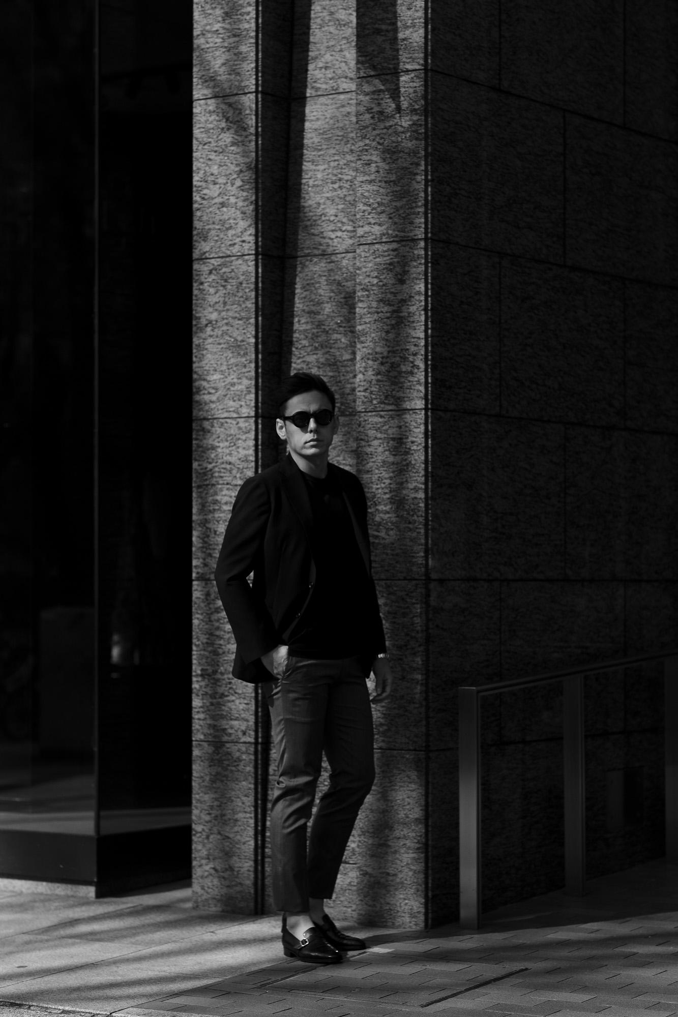 cuervo bopoha (クエルボ ヴァローナ) Sartoria Collection (サルトリア コレクション) Lobb (ロブ) Dominique France (ドミニック フランス) CALEDONIAN FEATHER (カレドニアン フェザー) EXCELLENT WOOL × KID MOHAIR ウールモヘア シャリック サマージャケット BLACK (ブラック) MADE IN JAPAN (日本製) 2020 【Special Special Special Model】ドミニックフランス ドミニクフランス ジャケット 超絶ブランド ドミニクフランス ネクタイ 高級 フランス 愛知 名古屋 altoediritto アルトエデリット