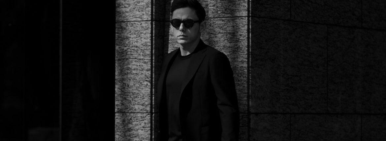 cuervo bopoha (クエルボ ヴァローナ) Sartoria Collection (サルトリア コレクション) Lobb (ロブ) Dominique France (ドミニック フランス) CALEDONIAN FEATHER (カレドニアン フェザー) EXCELLENT WOOL × KID MOHAIR ウールモヘア シャリック サマージャケット BLACK (ブラック) MADE IN JAPAN (日本製) 2020 【Special Special Special Model】のイメージ