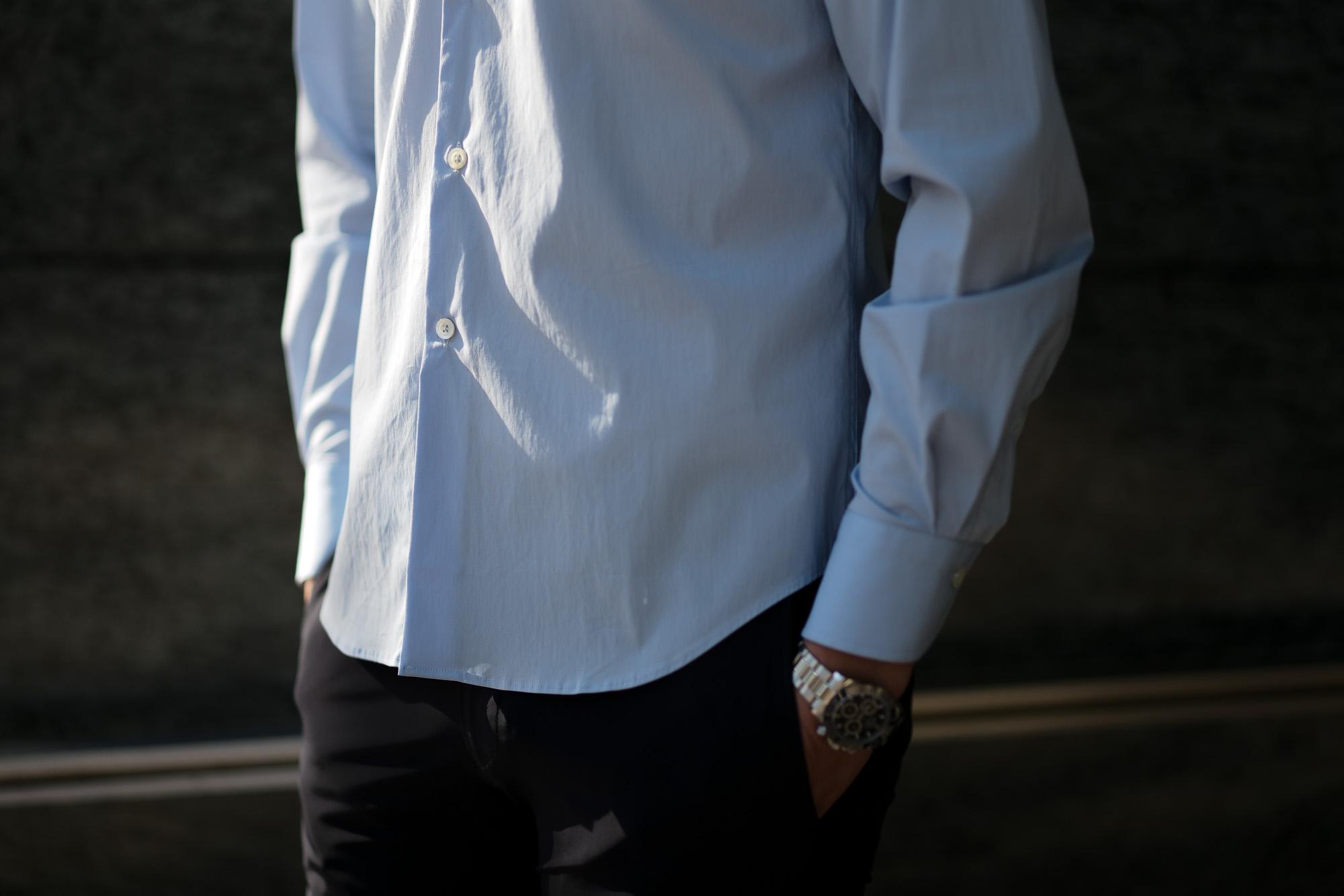 cuervo bopoha(クエルボ ヴァローナ) Sartoria Collection (サルトリア コレクション) Pier(ピエル) STRETCH COTTON ストレッチコットン シャツ SAX (サックス) MADE IN ITALY (イタリア製) 2020 春夏新作 イタリアシャツ 愛知 名古屋 altoediritto アルトエデリット