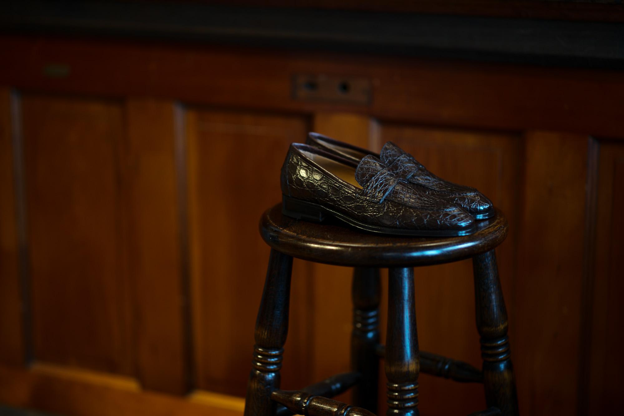 ENZO BONAFE (エンツォボナフェ) ART. EB-08 Crocodile Coin Loafer (クロコダイル コイン ローファー) Mat Crocodile Leather マット クロコダイル レザー ドレスシューズ ローファー COCCO DARK BROWN (ブラウン) made in italy (イタリア製) 2020 春夏新作 愛知 名古屋 enzobonafe エンツォボナフェ eb08