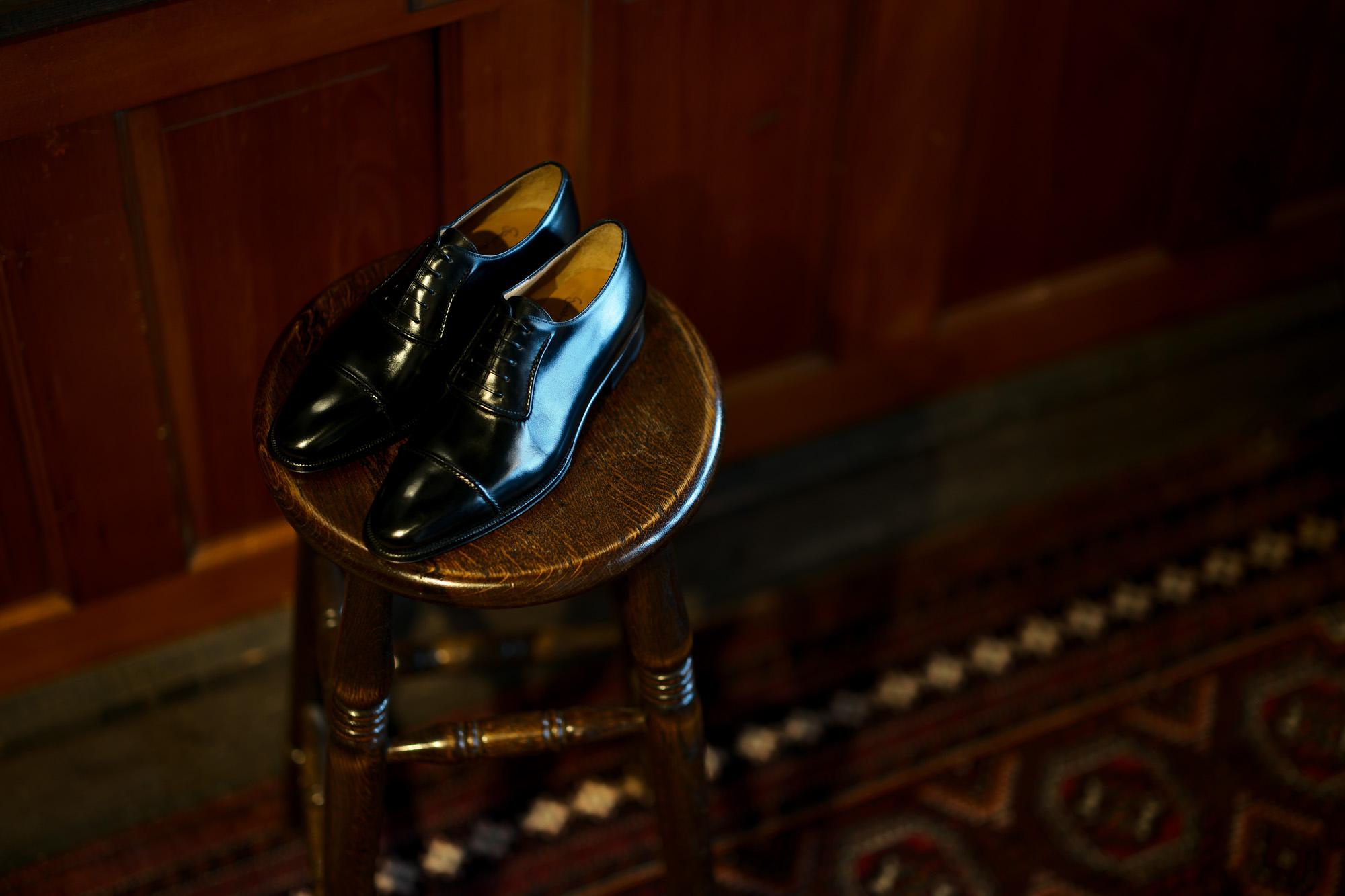 ENZO BONAFE (エンツォボナフェ) ART.3998 mod Straight Tip Shoes Du Puy Vitello デュプイ社ボックスカーフ ストレートチップシューズ NERO (ブラック) made in italy (イタリア製) 2020 春夏新作 【Special Model】【Alto e Diritto 別注】愛知 名古屋 enzobonafe エンツォボナフェ
