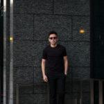 FEDELI(フェデーリ) Crew Neck T-shirt (クルーネック Tシャツ) ギザコットン Tシャツ BLACK (ブラック・36) made in italy (イタリア製) 2020 春夏新作 【第2便 入荷】【発売開始】のイメージ
