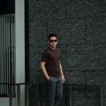 FEDELI(フェデーリ) Crew Neck T-shirt (クルーネック Tシャツ) ギザコットン Tシャツ BROWN (ブラウン・811) made in italy (イタリア製) 2020 春夏新作 【第2便 入荷】【発売開始】のイメージ