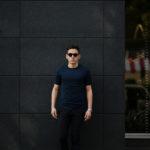 FEDELI(フェデーリ) Crew Neck T-shirt (クルーネック Tシャツ) ギザコットン Tシャツ NAVY (ネイビー・626) made in italy (イタリア製) 2020 春夏新作 【第2便 入荷】【発売開始】のイメージ