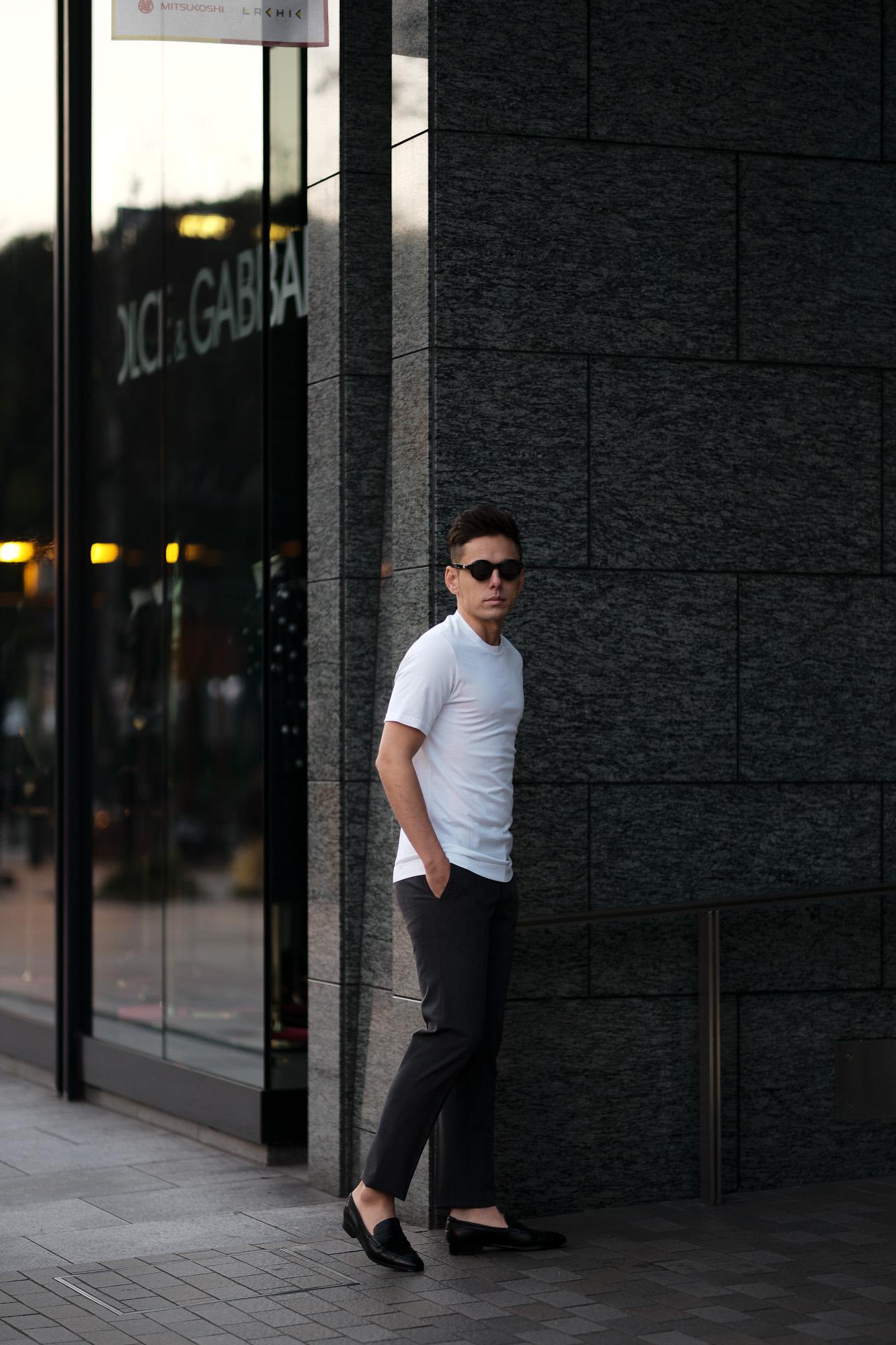 FEDELI(フェデーリ) Crew Neck T-shirt (クルーネック Tシャツ) ギザコットン Tシャツ WHITE (ホワイト・41) made in italy (イタリア製) 2020 春夏新作 愛知 名古屋 altoediritto アルトエデリット TEE
