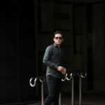 Finamore (フィナモレ) SEUL ITALIAN COLOR STRETCH COTTON SHIRTS ストレッチコットン ワンピースカラー シャツ OLIVE (オリーブ) made in italy (イタリア製) 2020 春夏新作 【第2便ご予約受付中】のイメージ