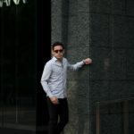 Finamore (フィナモレ) SEUL ITALIAN COLOR COTTON POPLIN SHIRTS コットンポプリン ワンピースカラー シャツ LIGHT GRAY (ライトグレー・41) made in italy (イタリア製) 2020 春夏新作のイメージ