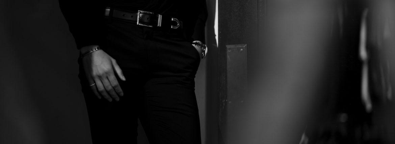 Georges de Patricia (ジョルジュ ド パトリシア) Shadow (シャドウ) 925 STERLING SILVER (925 スターリングシルバー) Calf Leather カーフレザー ベルト NOIR (ブラック) 2020のイメージ