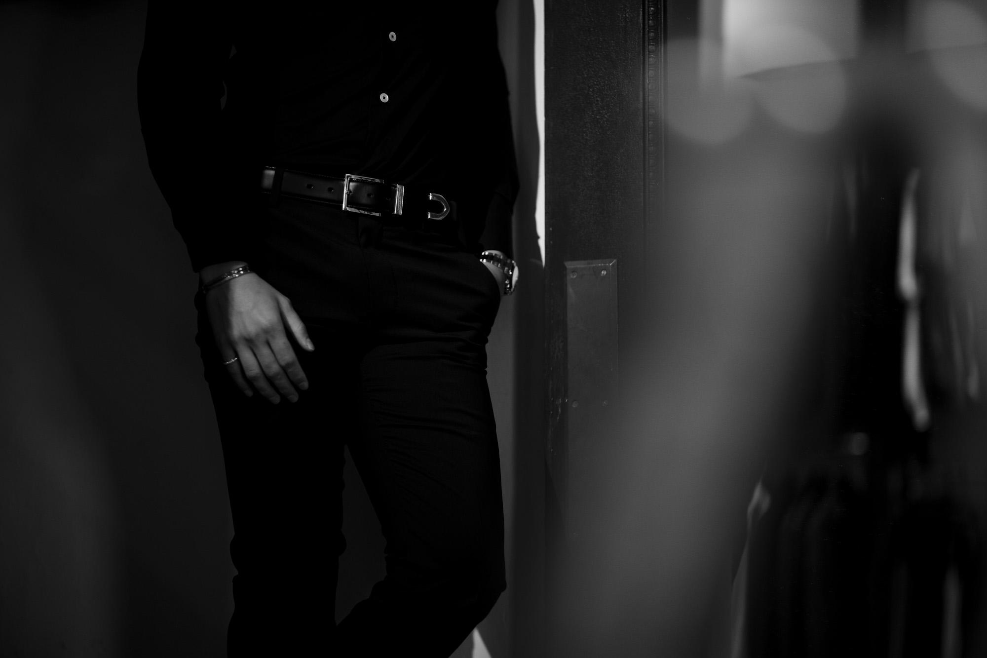 Georges de Patricia (ジョルジュ ド パトリシア) Shadow (シャドウ) 925 STERLING SILVER (925 スターリングシルバー) Calf Leather カーフレザー ベルト NOIR (ブラック) 2020 愛知 名古屋 altoediritto アルトエデリット レザーベルト