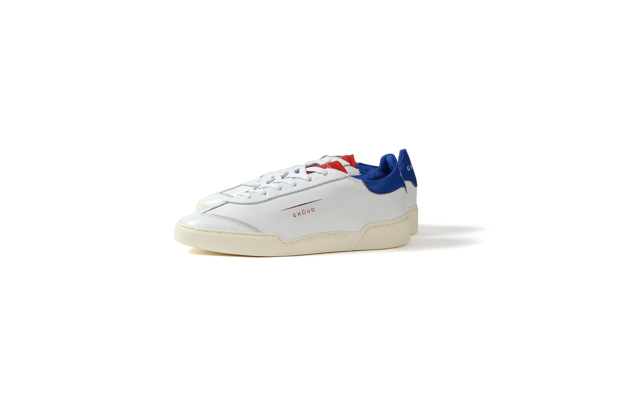 GHOUD(ゴード) LOB01 LOW MAN レザースニーカー WHITE/BLUE/RED(ホワイト/ブルー/レッド) 2020 春夏新作 愛知 名古屋 altoediritto アルトエデリット 白スニーカー