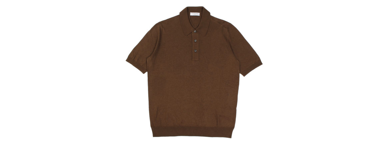 Gran Sasso (グランサッソ) Silk Knit Polo Shirt (シルクニットポロシャツ) SETA (シルク 100%) シルク ニット ポロシャツ GOLD (ゴールド・170) made in italy (イタリア製) 2020 春夏新作 【入荷しました】【フリー分発売開始】 愛知 名古屋 altoediritto アルトエデリット