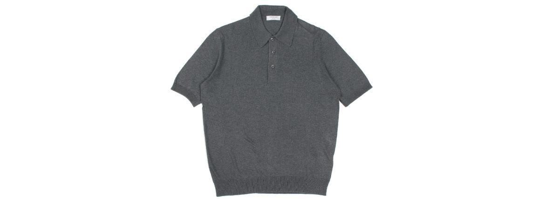 Gran Sasso (グランサッソ) Silk Knit Polo Shirt (シルクニットポロシャツ) SETA (シルク 100%) シルク ニット ポロシャツ GREY (グレー・097) made in italy (イタリア製) 2020 春夏新作 【入荷しました】【フリー分発売開始】のイメージ
