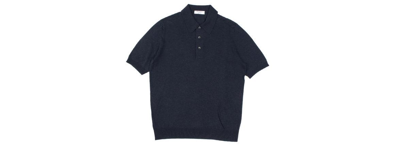 Gran Sasso (グランサッソ) Silk Knit Polo Shirt (シルクニットポロシャツ) SETA (シルク 100%) シルク ニット ポロシャツ NAVY (ネイビー・597) made in italy (イタリア製) 2020 春夏新作 【入荷しました】【フリー分発売開始】 愛知 名古屋 altoediritto アルトエデリット