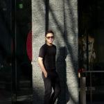 JOHN SMEDLEY(ジョンスメドレー) BELDEN (ベルデン) SEA ISLAND COTTON (シーアイランドコットン) ショートスリーブ コットンニット Tシャツ BLACK (ブラック) Made in England (イギリス製) 2020 春夏新作のイメージ