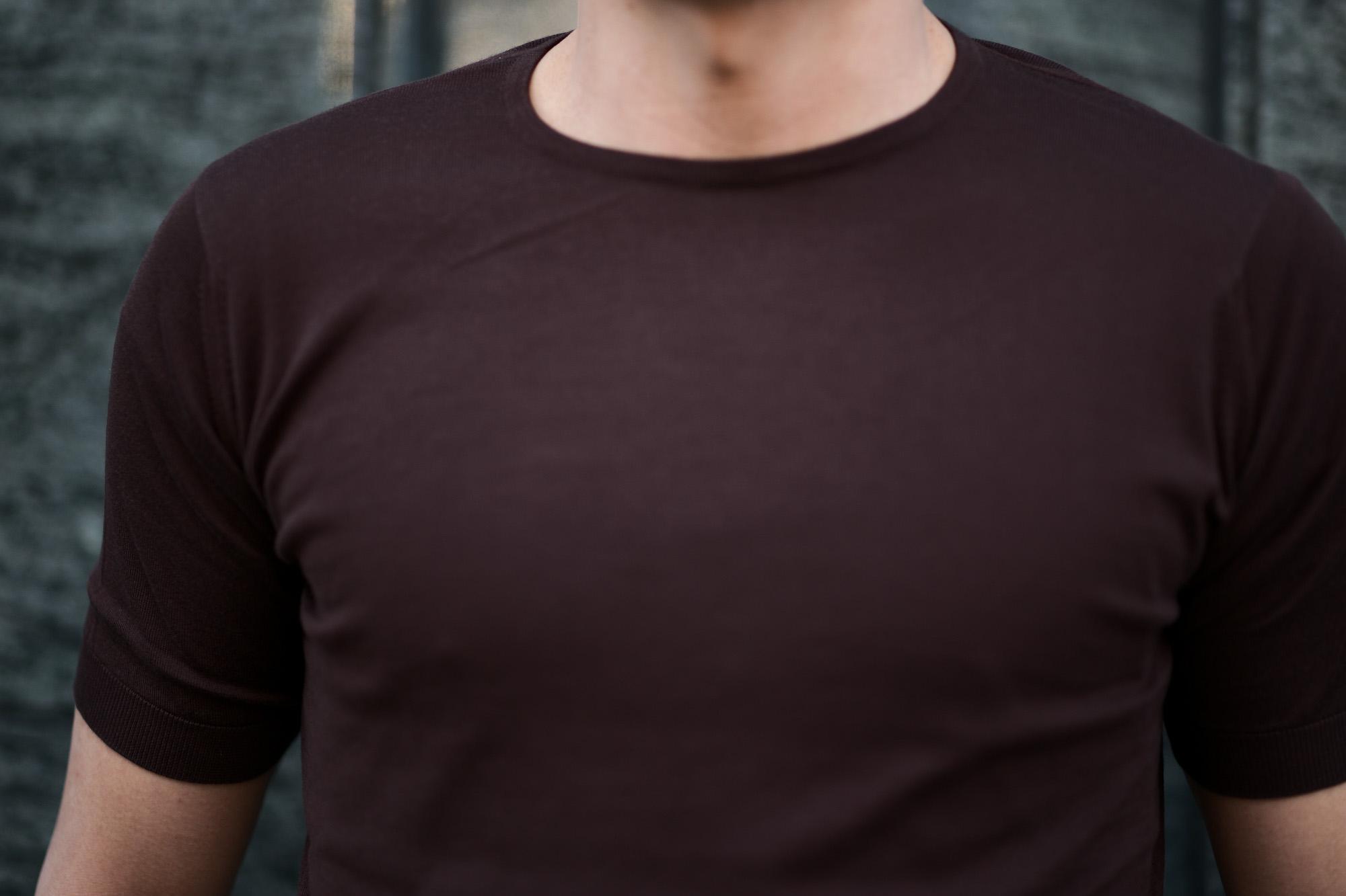 JOHN SMEDLEY(ジョンスメドレー) BELDEN (ベルデン) SEA ISLAND COTTON (シーアイランドコットン) ショートスリーブ コットンニット Tシャツ COFFEE BEAN (コーヒービーン) Made in England (イギリス製) 2020 春夏新作 愛知 名古屋 altoediritto アルトエデリット