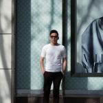 JOHN SMEDLEY(ジョンスメドレー) BELDEN (ベルデン) SEA ISLAND COTTON (シーアイランドコットン) ショートスリーブ コットンニット Tシャツ WHITE (ホワイト) Made in England (イギリス製) 2020 春夏新作のイメージ