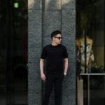 JOHN SMEDLEY(ジョンスメドレー) LORCA (ロルカ) SEA ISLAND COTTON (シーアイランドコットン) コットンニット Tシャツ BLACK (ブラック) Made in England (イギリス製) 2020 春夏新作のイメージ