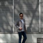 MOORER(ムーレー) GHIBERTI-KM1 (ギベルティ) ナイロン シングル ジャケット MARMO (グレー) Made in italy (イタリア製) 2020 春夏新作のイメージ