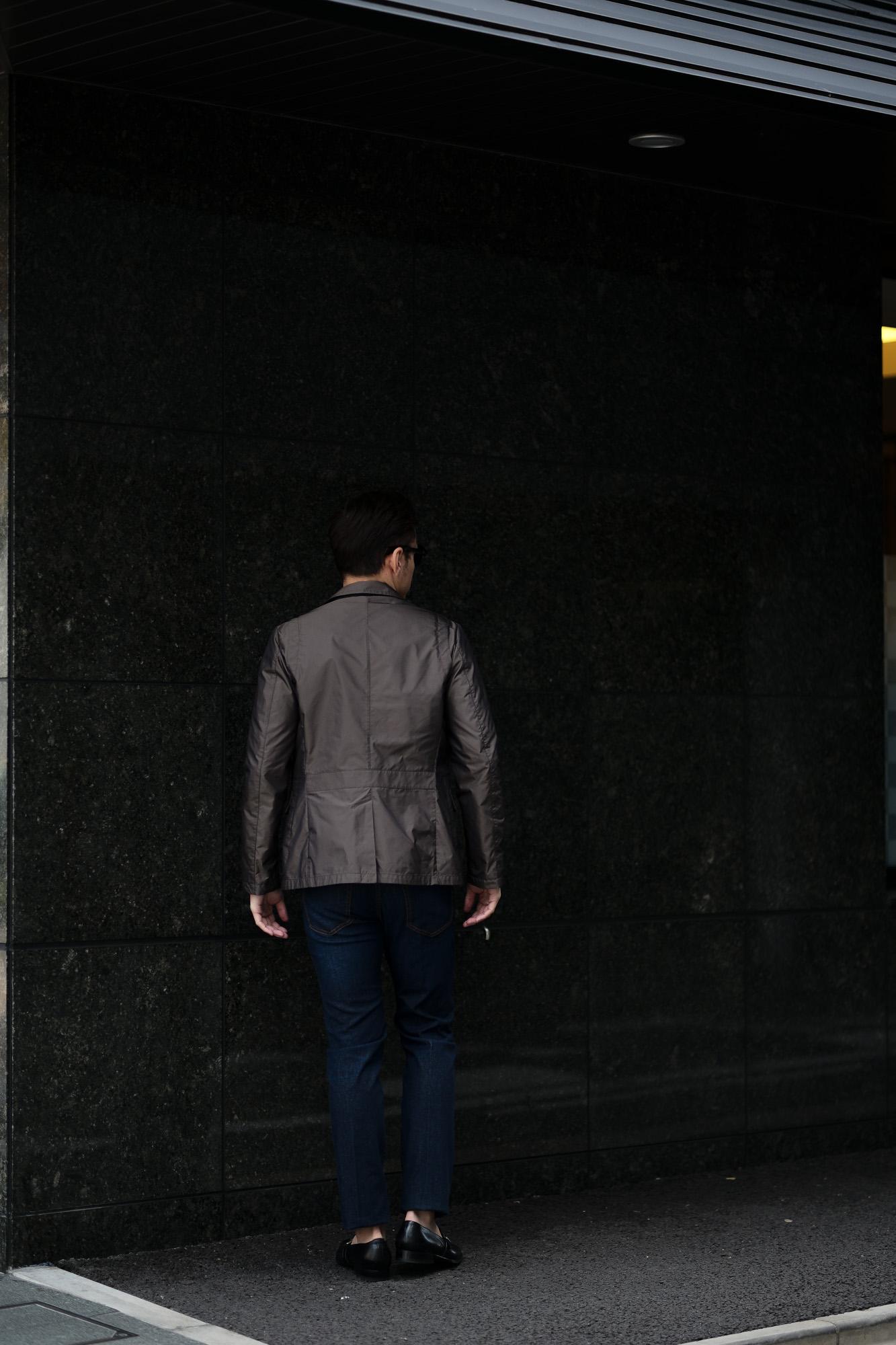 MOORER(ムーレー) GHIBERTI-KM1 (ギベルティ) ナイロン シングル ジャケット MARMOTTA (ブラウン) Made in italy (イタリア製) 2020 春夏新作 愛知 名古屋 altoediritto アルトエデリット